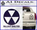 Fallout Shelter Decal Sticker PurpleEmblem Logo 120x97