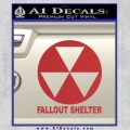 Fallout Shelter Decal Sticker Red 120x120