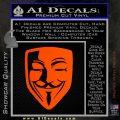 Guy Fawkes Anonymous Mask V Vendetta D8 Decal Sticker Orange Emblem 120x120