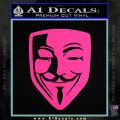 Guy Fawkes Anonymous Mask V Vendetta D8 Decal Sticker Pink Hot Vinyl 120x120