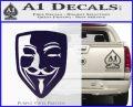 Guy Fawkes Anonymous Mask V Vendetta D8 Decal Sticker PurpleEmblem Logo 120x97