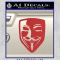 Guy Fawkes Anonymous Mask V Vendetta D8 Decal Sticker Red 120x120