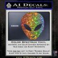 Happy Alien Face Decal Sticker Glitter Sparkle 120x120