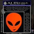Happy Alien Face Decal Sticker Orange Emblem 120x120