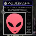 Happy Alien Face Decal Sticker Pink Emblem 120x120