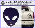 Happy Alien Face Decal Sticker PurpleEmblem Logo 120x97