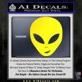 Happy Alien Face Decal Sticker Yellow Laptop 120x120