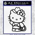 Hello Kitty Cowgirl Decal Sticker Black Vinyl 120x120