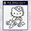 Hello Kitty Mermaid Decal Sticker Black Vinyl 120x120