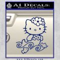 Hello Kitty Mermaid Decal Sticker Blue Vinyl 120x120