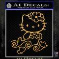 Hello Kitty Mermaid Decal Sticker Gold Vinyl 120x120