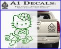 Hello Kitty Mermaid Decal Sticker Green Vinyl Logo 120x97