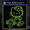 Hello Kitty Mermaid Decal Sticker Lime Green Vinyl 120x120