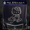 Hello Kitty Mermaid Decal Sticker Metallic Silver Emblem 120x120