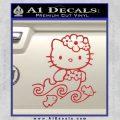 Hello Kitty Mermaid Decal Sticker Red 120x120