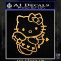 Hello kitty cupid decal sticker Gold Vinyl 120x120