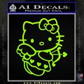 Hello kitty cupid decal sticker Lime Green Vinyl 120x120