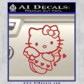 Hello kitty cupid decal sticker Red 120x120