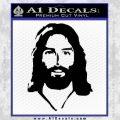 Jesus Face New 1 Decal Sticker Black Vinyl 120x120