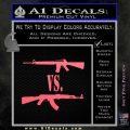 M16 Vs Ak47 Machine Gun Control 2nd Amendment Decal Sticker Pink Emblem 120x120