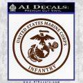 Marine Corp Infantry Emblem D2 Decal Sticker BROWN Vinyl 120x120