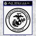 Marine Corp Infantry Emblem D2 Decal Sticker Black Vinyl 120x120