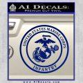 Marine Corp Infantry Emblem D2 Decal Sticker Blue Vinyl 120x120