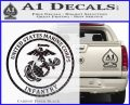 Marine Corp Infantry Emblem D2 Decal Sticker Carbon FIber Black Vinyl 120x97