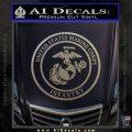 Marine Corp Infantry Emblem D2 Decal Sticker Carbon FIber Chrome Vinyl 120x120