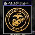 Marine Corp Infantry Emblem D2 Decal Sticker Gold Vinyl 120x120