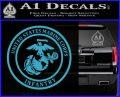 Marine Corp Infantry Emblem D2 Decal Sticker Light Blue Vinyl 120x97