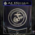 Marine Corp Infantry Emblem D2 Decal Sticker Metallic Silver Emblem 120x120