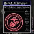 Marine Corp Infantry Emblem D2 Decal Sticker Pink Emblem 120x120