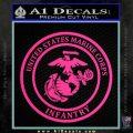Marine Corp Infantry Emblem D2 Decal Sticker Pink Hot Vinyl 120x120