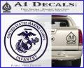 Marine Corp Infantry Emblem D2 Decal Sticker PurpleEmblem Logo 120x97