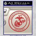 Marine Corp Infantry Emblem D2 Decal Sticker Red 120x120