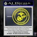 Marine Corp Infantry Emblem D2 Decal Sticker Yellow Laptop 120x120