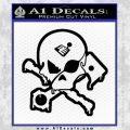 Motorsports Pirate D2 Decal Sticker Black Vinyl 120x120