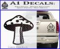 Mushroom Shroom Decal Sticker Carbon FIber Black Vinyl 120x97