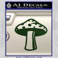 Mushroom Shroom Decal Sticker Dark Green Vinyl 120x120
