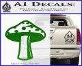 Mushroom Shroom Decal Sticker Green Vinyl Logo 120x97