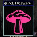 Mushroom Shroom Decal Sticker Pink Hot Vinyl 120x120