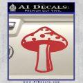 Mushroom Shroom Decal Sticker Red 120x120
