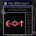 Muslim Jewish Christian Coexist D1 Decal Sticker Pink Emblem 120x120