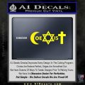 Muslim Jewish Christian Coexist D1 Decal Sticker Yellow Laptop 120x120