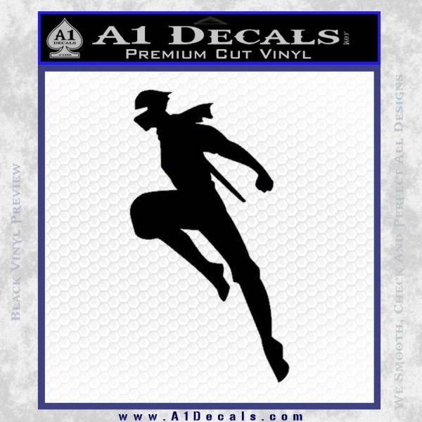 Ninja Decal Sticker Black Vinyl