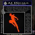 Ninja Decal Sticker Orange Emblem 120x120