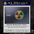 Nuclear Radiation Decal Sticker Glitter Sparkle 120x120
