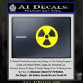 Nuclear Radiation Decal Sticker Yellow Laptop 120x120