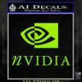 Nvidia Full Decal Sticker Lime Green Vinyl 120x120